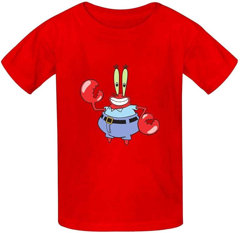 LASYLY Spongebob Boys Girls Cool Pattern T-Shirt Teen Kid Short Sleeve Pullover Tees