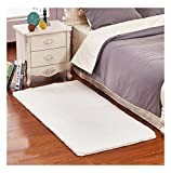 Ultra Soft Bedroom Stepping Carpet,Decorative Living Room Shaggy Area Rug,Fluffy floor Mat with Anti-Slip Bottom (Beige,19'' x 31'')
