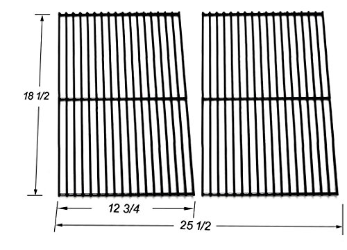 - BBQ Mart 54712 Porcelain Coated Steel Wire Cooking Grid replacement for Charbroil, DCS, Kenmore Sears and other Grills, Set of 2