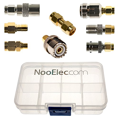 NooElec SMA Adapter Connectivity Kit: 8 Adapters for NESDR (RTL-SDR) SMA Radios w/Case