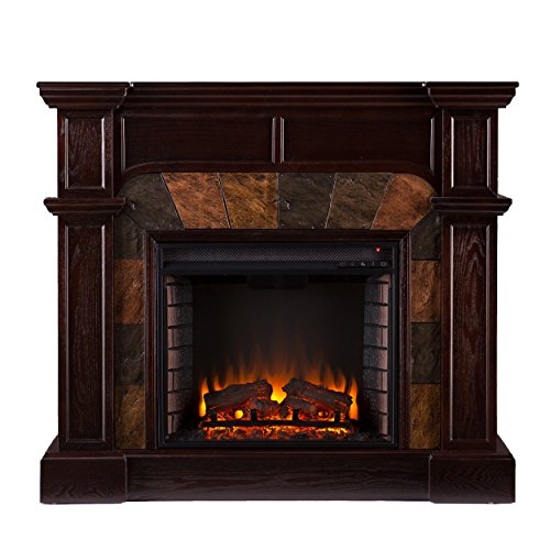 Southern Enterprises SEI Cartwright Convertible Electric Fireplace, Espresso