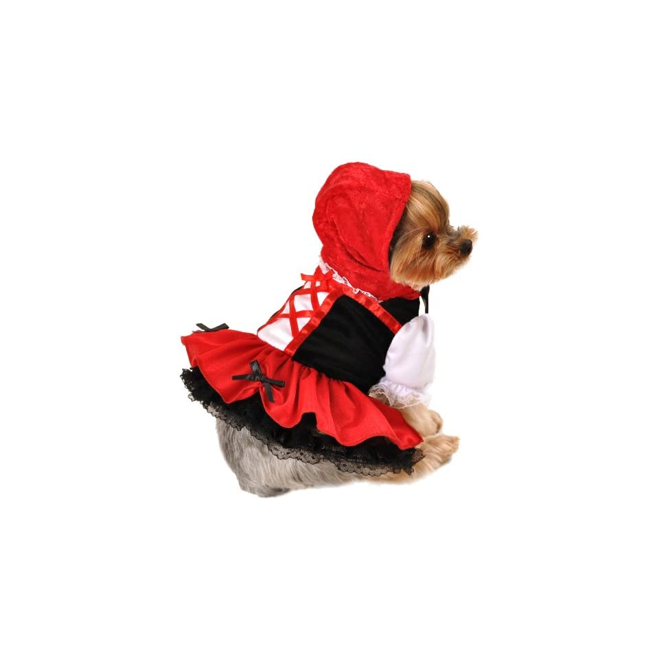 Anit Accessories Red Hood Dress Dog Costume, 8 Inch