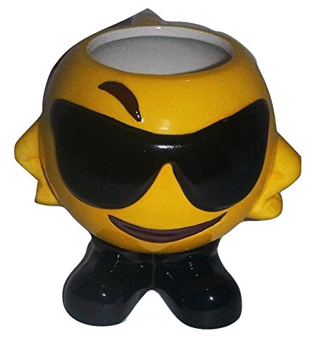 [Cool Shades Emoji Tea Coffee Mug USA Seller] (Homemade Coffee Cup Costumes)