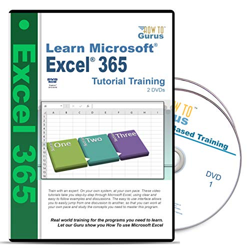 Microsoft Office 2016 Excel 365 How to Course 2 DVDs 197 Videos Over 12 Hours of Tutorial Training