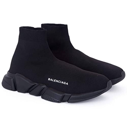 a280ec226ea5 Balenciaga Speed Trainer Triple Black Imported Sneakers  Buy Online at Low  Prices in India - Amazon.in