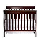 Dream on Me Crib with Changing Table Dream On Me 4 in 1 Aden Convertible Mini Crib, Espresso