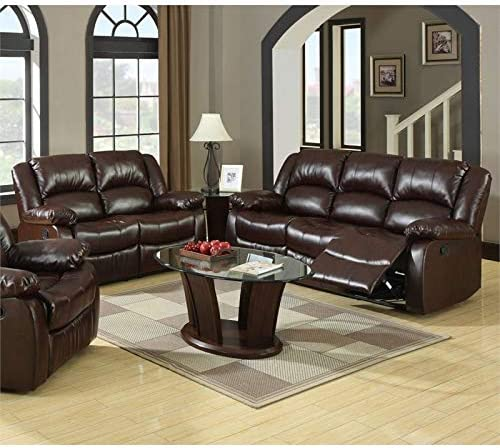 Amazon.com: Furniture of America Roberts 2-Piece Bonded ...