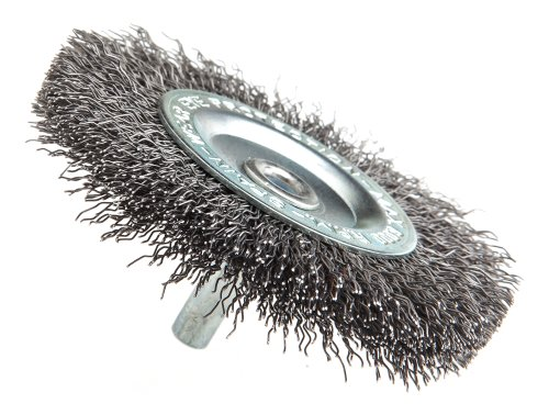 Forney 60016 Wheel Brush, Coarse Crimped Wire with 1/4-Inch Shank, 3-Inch
