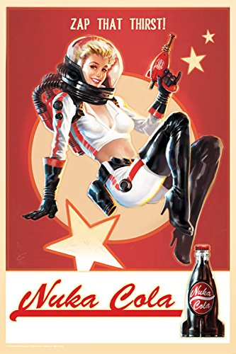 FanWraps Fallout 4 Nuka Cola Pin-Up Tin Sign Replica]()