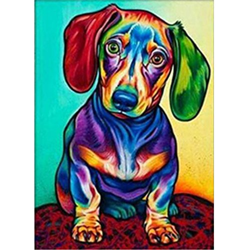 5D DIY Diamond Painting - Animal Resin Cross Stitch Kit - Crystals Embroidery - Home Decor Craft (Dog)