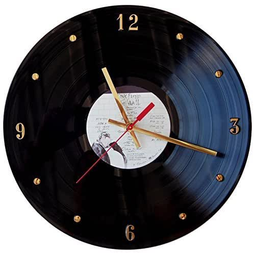 "Record Clock - Pink Floyd (The Wall). Handmade 12"" wall clock created with the original Pink Floyd record."