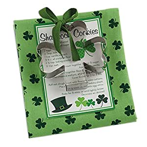 Shamrock Cookie Cutter and Kitchen Dish Towel Set