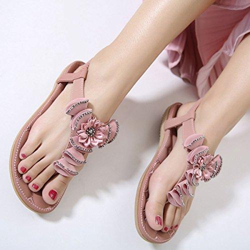 Mujer DoraTasia Chanclas 12 Para Pink EqUfqW