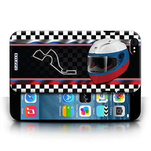 Etui / Coque pour Apple iPhone 6/6S / Russie/Sochi conception / Collection de F1 Piste Drapeau