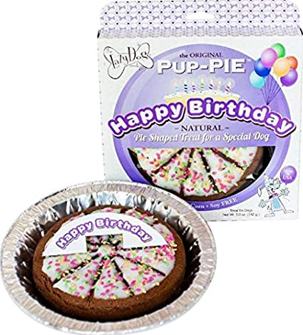 Lazy Dog Pup PIE Happy Birthday For A Special 6 Inch