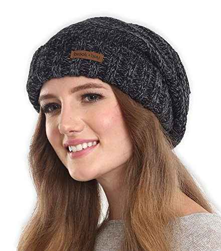 e337d780ad2 Brook + Bay Women s Slouchy Cable Knit Cuff Beanie - Chunky ...