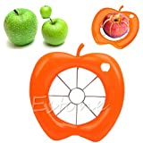 Kofun Stainless Steel Apple Cut, Hot Kitchen Apple Fruit Divider Slicer Wedge Cutter Pear Tool Comfort Corer Hand Colors Randomly 1 Piece
