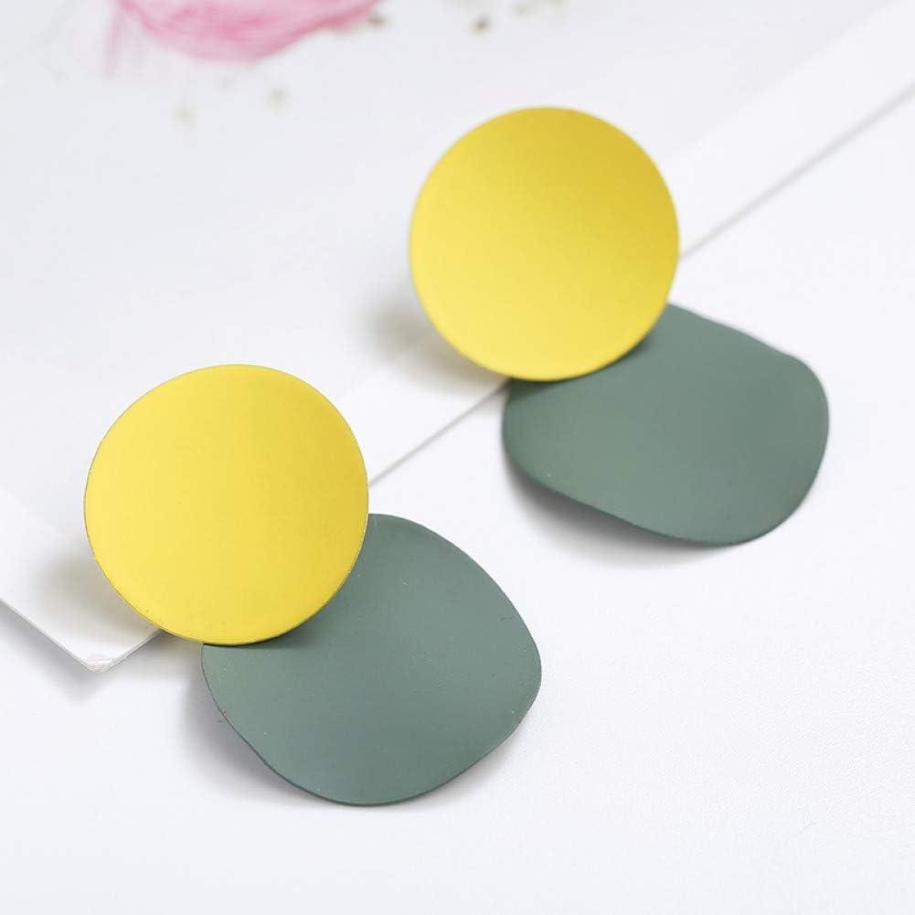 HUGJOU Nuevo Elegante 3 Colores Desiguales Redondos Pendientes De Gota De Metal para Las Mujeres Pendientes De Aleación Geométrica Joyería De Moda Regalo De La Muchacha