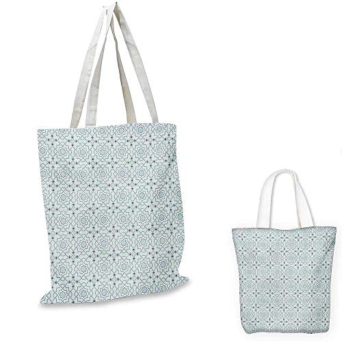 5d324f5fa10e Arabesque Portable Shopping Bag Oriental Moroccan Style Traditional Motif  with Mosaic Style Effects Ethnic Artwork Shopping Bag for Women Baby Blue.  ...