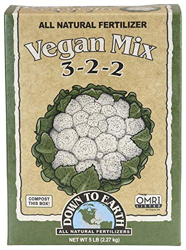 Down To Earth All Natural Fertilizers 07821 Down to Earth Vegan Mix-5 lb Fertilizer, Brown