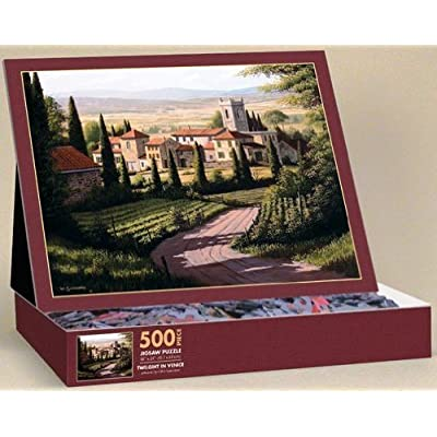 Twilight In Venice Puzzle 500 Piece Easel Style Puzzle By Lang