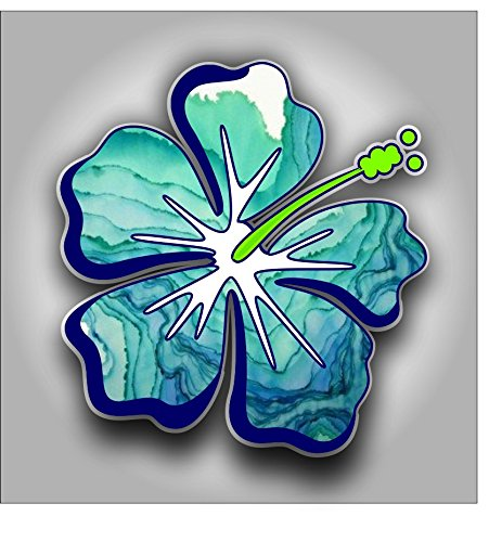 Hibiscus Flower sticker decal Shipping