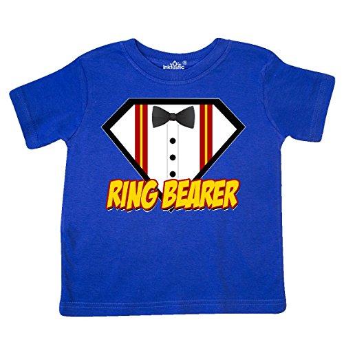 inktastic Ring Bearer Superhero Toddler T-Shirt 4T Royal Blue