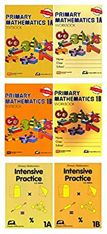 Singapore Math Primary Mathematics Grade 1 Intensive SET (6 Books) --Textbooks 1A and 1B, Workbooks 1A and 1B, Intensive Practice 1A and 1B (US ()