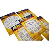 Aunt Martha's Iron On Transfer Patterns for Stitching, Embroidery or Fabric Painting, Patterns for Tea Towels/Kitchen Decor, Set of 5