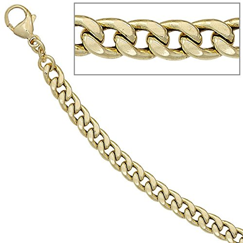 5,2mm-Bracelet Gourmette Bracelet Bracelet Chaîne Bracelet Bijoux Or jaune 33321cm Unisexe