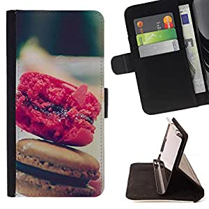 - Macaron Food/ Personalizada del estilo del dise???¡Ào de la PU Caso de encargo del cuero del tir????n del soporte d - Cao - For Sony Xperia Z1 L39