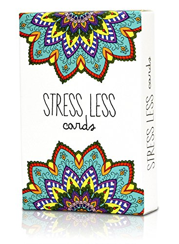 Stress Less Cards - 50 Mindfulness & Meditation Exercises - Helps Relieve Stress and -