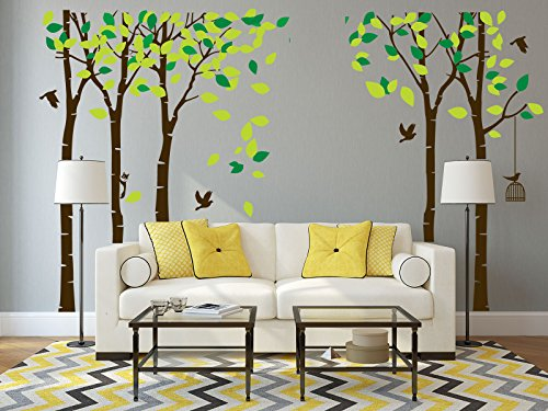 wall decal brown tree - 2