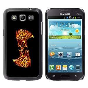 TECHCASE**Cubierta de la caja de protección la piel dura para el ** Samsung Galaxy Win I8550 I8552 Grand Quattro ** Flaming Abstract