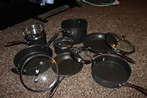 FOOD NETWORK 11-PC HARD-ANODIZED NONSTICK COOKWARE SET