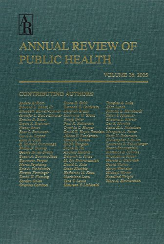 Annual Review Of Public Health, 2005, Vol. 26