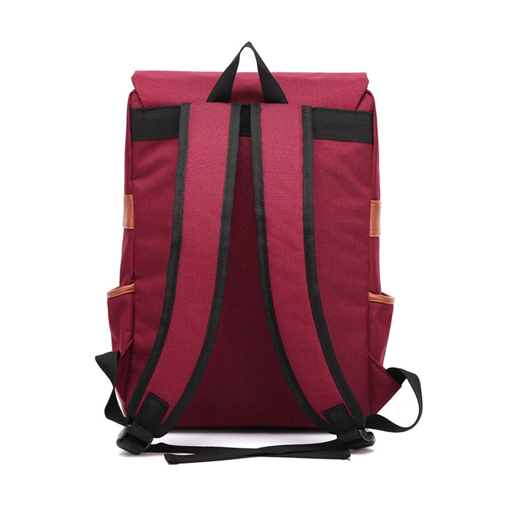 aa91bac0ab9d Canvas Vintage Backpack Travel Backpack Daypack Hiking Camping School  Rucksack for Women Men (Red)  Amazon.in  Bags