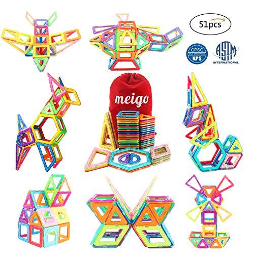 MEIGO Magnetic Blocks - Kids Magnetic Building Tiles Set Boys Girls STEM Educati