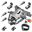 DeKaSi Fetch Dog Harness Chest Mount for Gopro HERO 5/4/3 Black Silver Session(10-in-1)