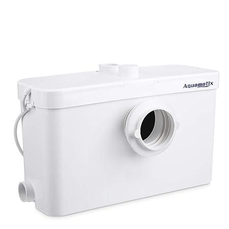 Aquamatix Schmutzwasser Hebeanlage Abwasserpumpe Fäkalien WC Häcksler Haushaltspumpe Dusche (Excellencia 3)