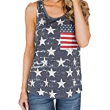 Gibobby Womens Camouflage Racerback American Flag Sleeveless Tank Top Loose Summer Workout Tops (L, z-Blue)