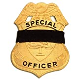 """Black Elastic Badge Shield Mourning Band One Size Fits All 1"""" Size (10-Pack)"""