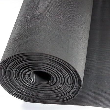 Gr/ö/ße w/ählbar Kabelschutzmatte 0,60 x 10m St/ärke: 3 mm Feinriefenmatte| Farbe: SCHWARZ Kabelmatte