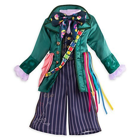 [Disney Store Kids Alice Through Looking Glass Mad Hatter 3 Piece Costume (13) (13)] (Mad Hatter Costume Kids Girl)