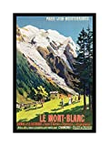 RAIL TRAIN MONT BLANC FRENCH ALPS RAILWAY FRANCE Framed Wall Art Wall Picture Frames Wall Decor Pictures for Living Room Bedroom Office 30x40 cm
