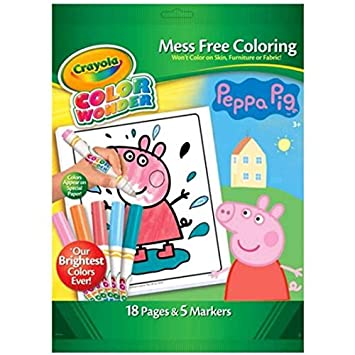 Peppa Pig Colour Wonder Set Mess Free Colouring by Crayola - 18 ...