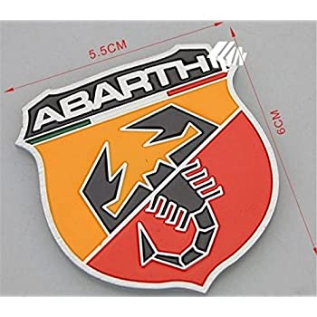 Amazon.com: 2pcs Car 3d Logo Fiat Abarth Metal Emblem Badge Sticker