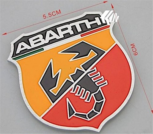 2pcs Car 3d Logo Fiat Abarth Metal Emblem Badge Sticker Self Adhesive Badge Decal Racing off-road