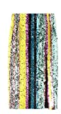 Jaycargogo Womens High Waist Multi Colored Sequins Bodycon Midi Skirt