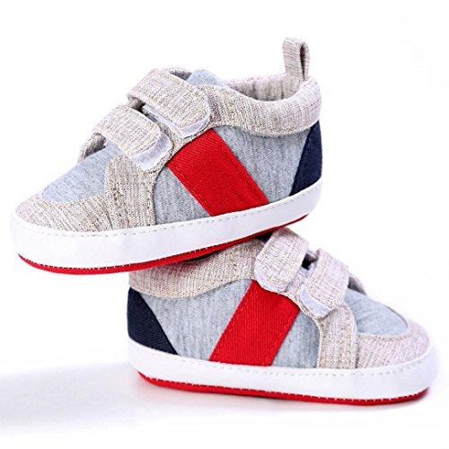 Sandalias para bebés, RETUROM Cuna suave suela zapatillas zapatos de lindo bebé de recién nacido Caqui